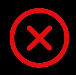 croix rouge, utilisation déconseillée